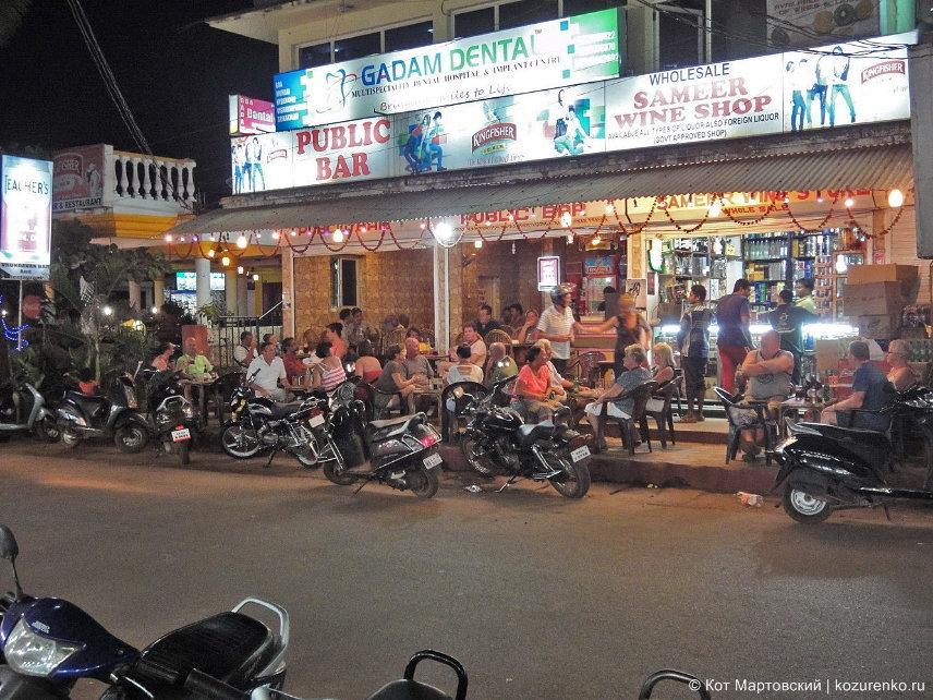 Парковка мопедов и мотоциклов в ГОА, Индия