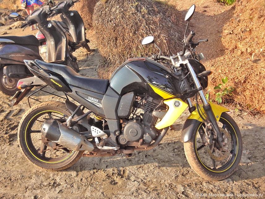 Yamaha FZ-S в ГОА, Индия