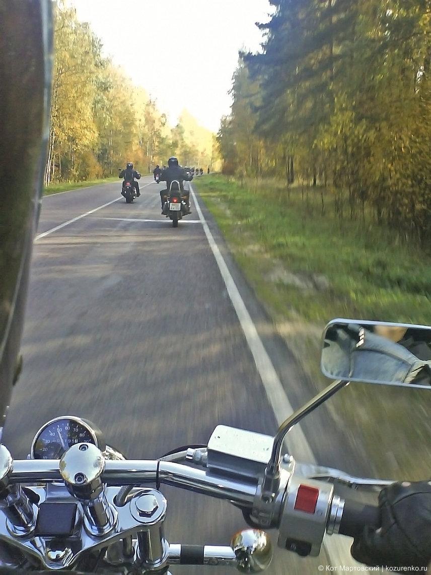 Слева передо мной должен быть мотоцикл, но его нет - это неправильно
