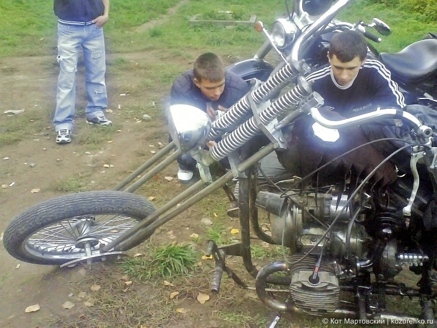 Рычажная вилка на мотоцикле К-72