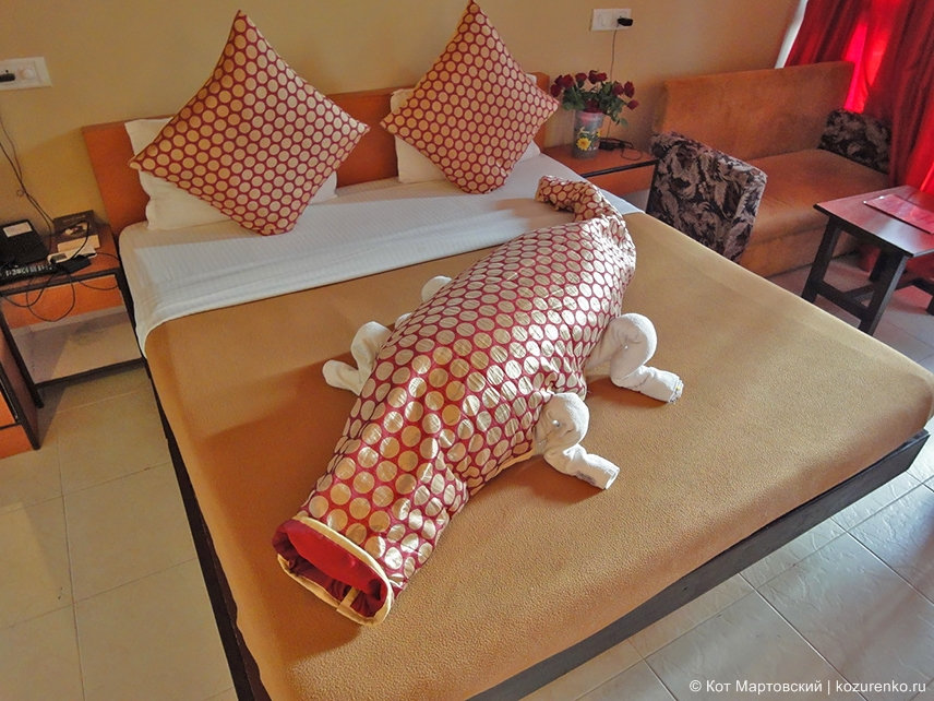 Крокодил из полотенец