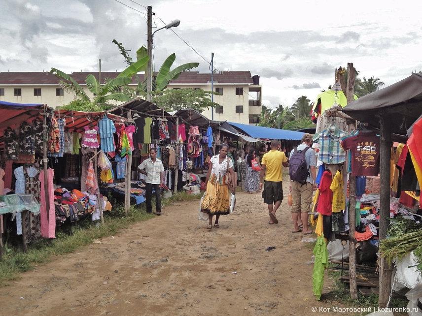Рынок в деревне Habaraduwa