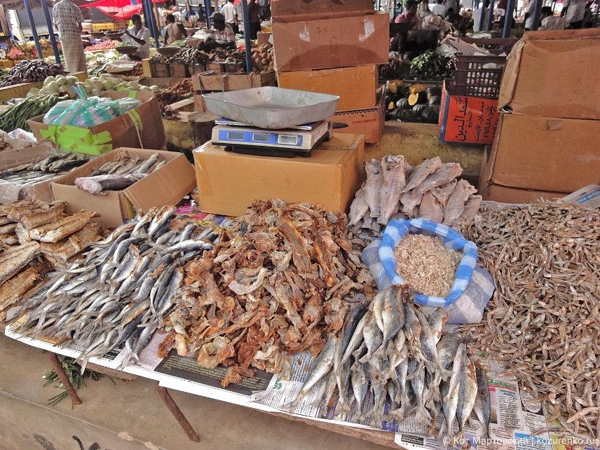 Сушеная рыба разного калибра