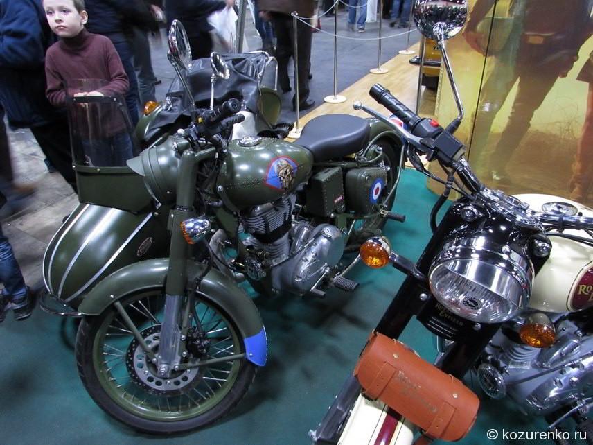 Военный мотоцикл с коляской
