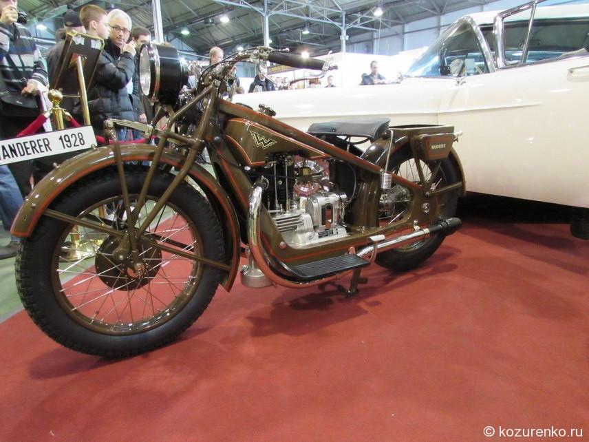Старинный мотоцикл Wanderer 1928 года