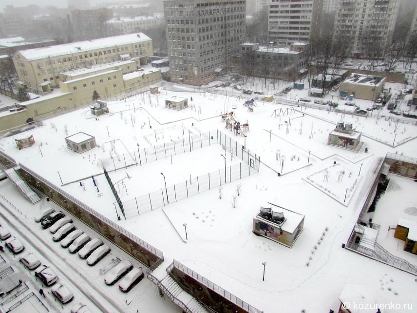 Снегопад 1 апреля