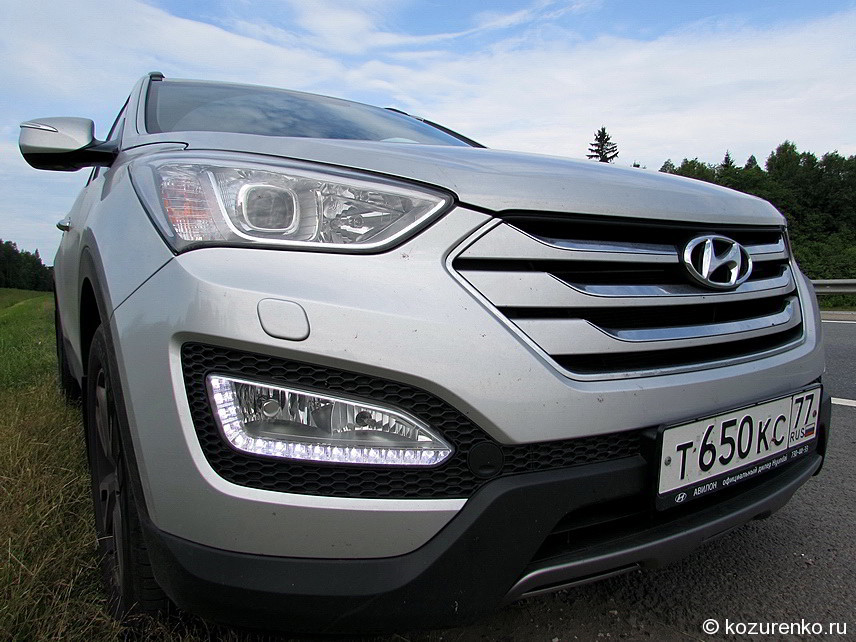 Hyundai SantaFe, фара