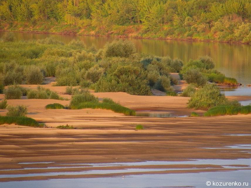 Песчаная отмель на Ветлуге