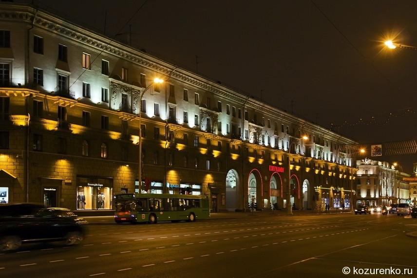 Центральные улицы Минска свободны