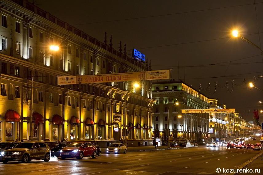 Проспект независимости - одна из центральных и самых широких улиц