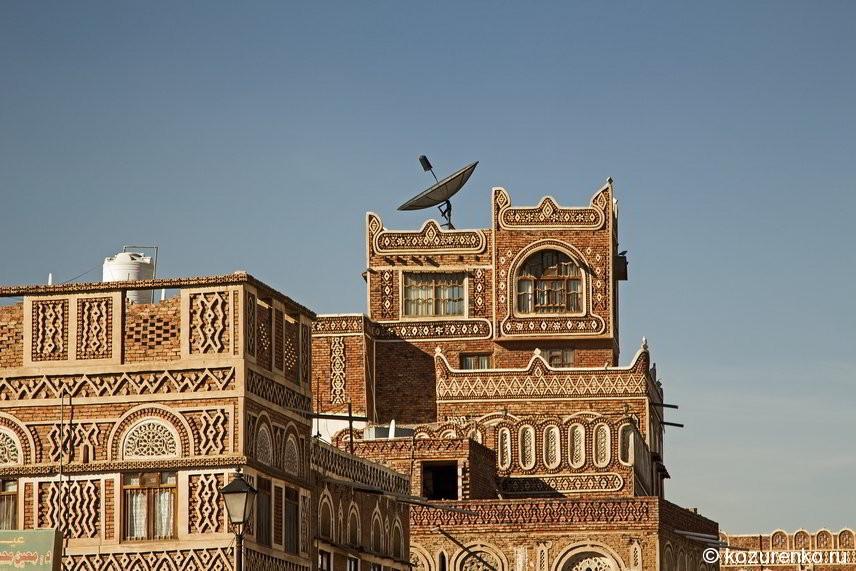 В таких домах живут богатые йеменцы