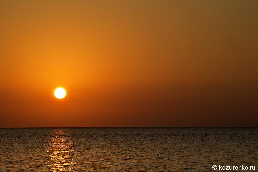 Закат в бухте Шуаб