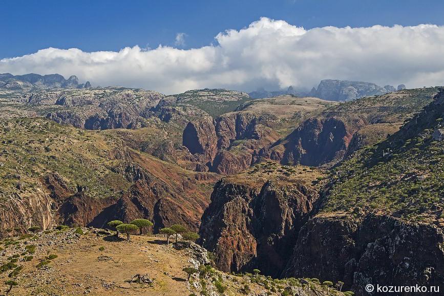 Вид на ущелье с плато Dixam