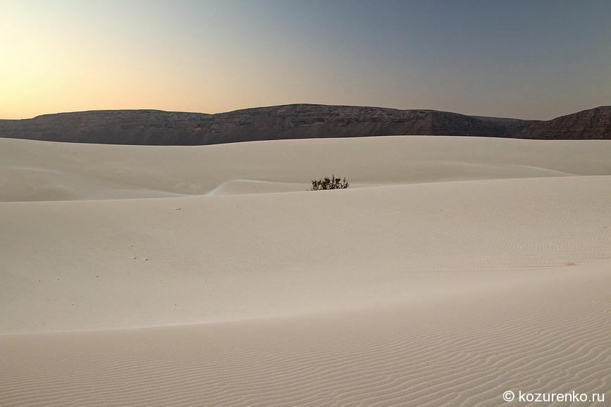 Пустыня между горами и морем