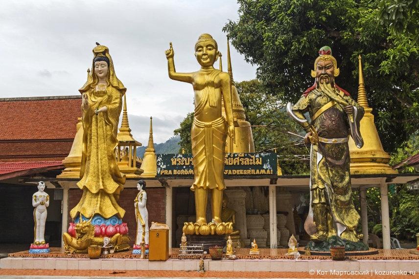 Статуя Будды и других героев тайского фольклора. Храм недалеко от Ламаи