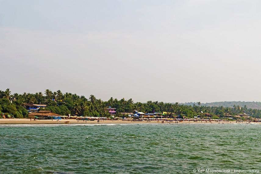 Вид на пляж Арамболь со скал