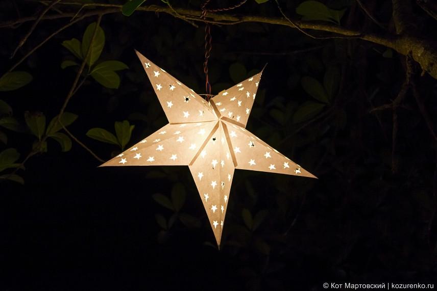 Звезда-фонарь на парковке