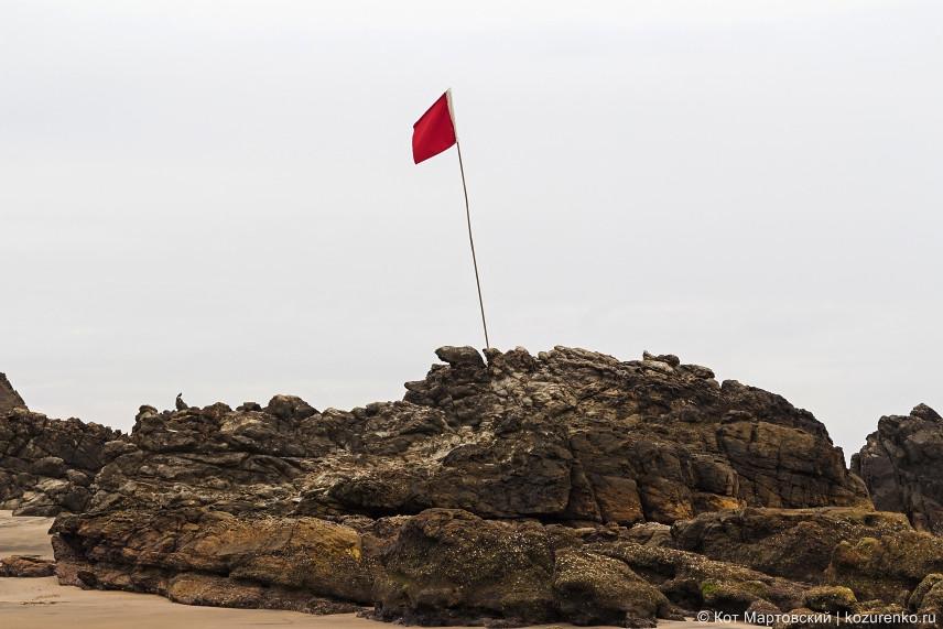 Красный флаг - купаться запрещено