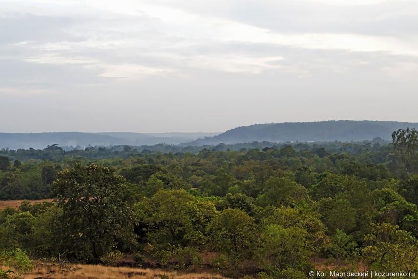 Долина среди холмов. Штат Махараштра, Индия