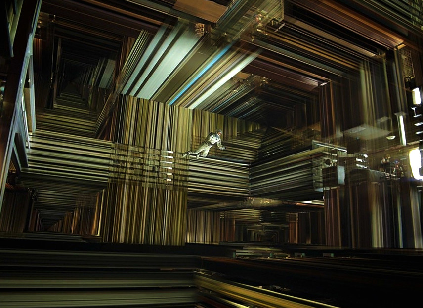 Кадр из фильма Интерстеллар: множество пространств-времен одной и той же комнаты