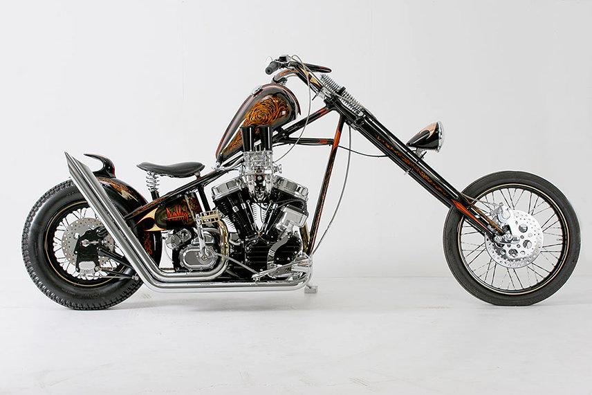 Мотоцикл, построенный Orange County Choppers в честь Дэвида Манна