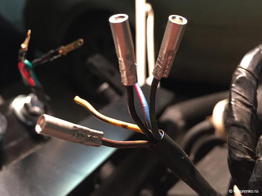 Соединения проводки с помощью обжимных гильз и термоусадочных трубок